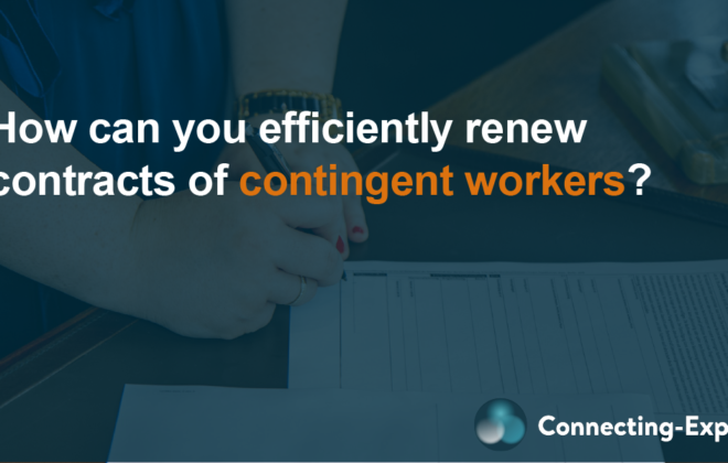 How can you efficiently renew contracts of contingent workers