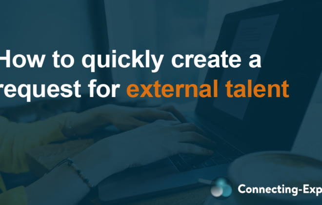 How to quickly create a request for external talent